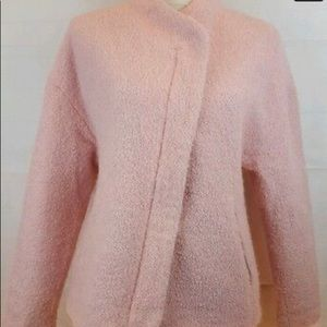 Zara Trafaluc baby pink tweed coat